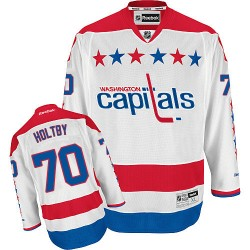 Washington Capitals Braden Holtby Official White Reebok Premier Adult Third NHL Hockey Jersey