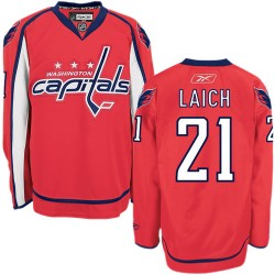 Washington Capitals Brooks Laich Official Red Reebok Authentic Adult Home NHL Hockey Jersey