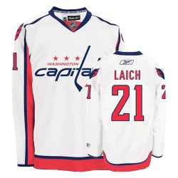Washington Capitals Brooks Laich Official White Reebok Authentic Adult Away NHL Hockey Jersey