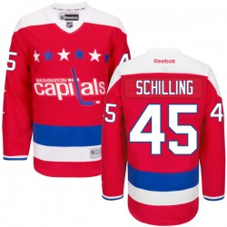 Washington Capitals Cameron Schilling Official Red Reebok Premier Adult Alternate NHL Hockey Jersey
