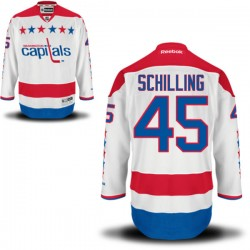 Washington Capitals Cameron Schilling Official White Reebok Authentic Adult Alternate NHL Hockey Jersey