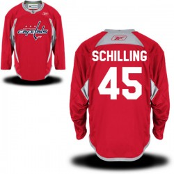 Washington Capitals Cameron Schilling Official Red Reebok Authentic Adult Alternate NHL Hockey Jersey
