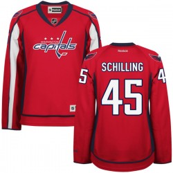 Washington Capitals Cameron Schilling Official Red Reebok Authentic Women's Home NHL Hockey Jersey