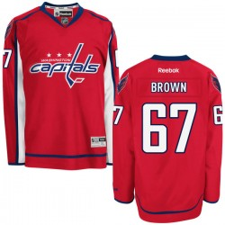 Washington Capitals Chris Brown Official Red Reebok Authentic Adult Home NHL Hockey Jersey
