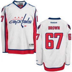Washington Capitals Chris Brown Official White Reebok Authentic Adult Away NHL Hockey Jersey