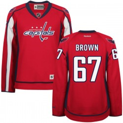 Washington Capitals Chris Brown Official Red Reebok Authentic Women's Home NHL Hockey Jersey