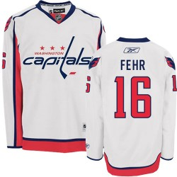Washington Capitals Eric Fehr Official White Reebok Premier Adult Away NHL Hockey Jersey