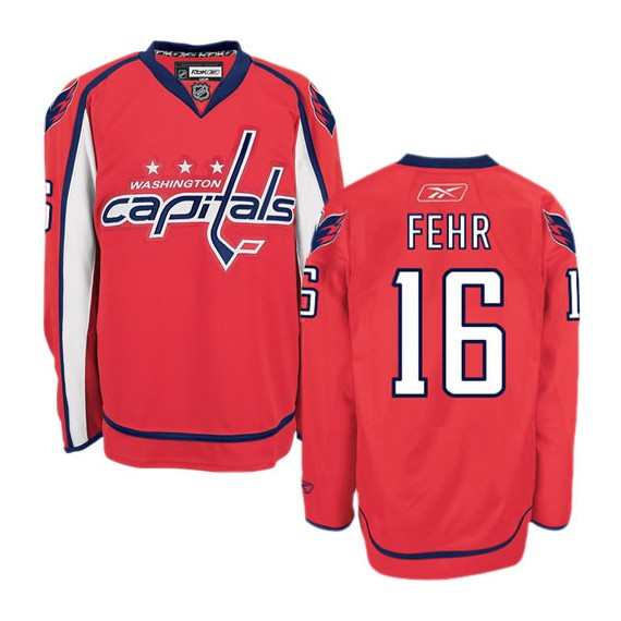 Washington Capitals Eric Fehr Official Red Reebok Premier Adult Home NHL Hockey Jersey