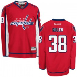 Washington Capitals Jack Hillen Official Red Reebok Authentic Adult Home NHL Hockey Jersey