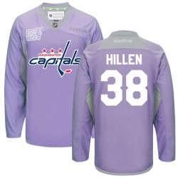 Washington Capitals Jack Hillen Official Purple Reebok Authentic Adult 2016 Hockey Fights Cancer Practice Jersey
