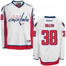 Washington Capitals Jack Hillen Official White Reebok Authentic Adult Away NHL Hockey Jersey