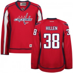 Washington Capitals Jack Hillen Official Red Reebok Authentic Women's Home NHL Hockey Jersey