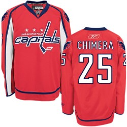 Washington Capitals Jason Chimera Official Red Reebok Authentic Adult Home NHL Hockey Jersey