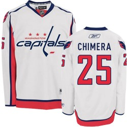 Washington Capitals Jason Chimera Official White Reebok Authentic Adult Away NHL Hockey Jersey