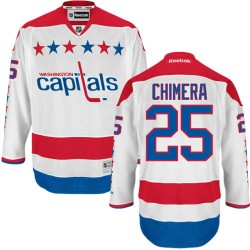 Washington Capitals Jason Chimera Official White Reebok Authentic Adult Third NHL Hockey Jersey