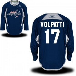 Washington Capitals Aaron Volpatti Official Navy Blue Reebok Premier Adult Practice Team NHL Hockey Jersey