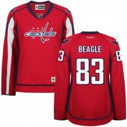 Washington Capitals Jay Beagle Official Red Reebok Premier Women's Home NHL Hockey Jersey