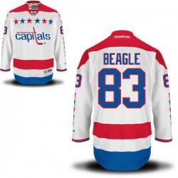 Washington Capitals Jay Beagle Official White Reebok Authentic Adult Alternate NHL Hockey Jersey
