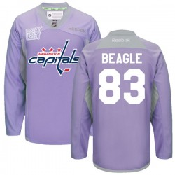Washington Capitals Jay Beagle Official Purple Reebok Authentic Adult 2016 Hockey Fights Cancer Practice Jersey