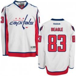 Washington Capitals Jay Beagle Official White Reebok Authentic Adult Away NHL Hockey Jersey