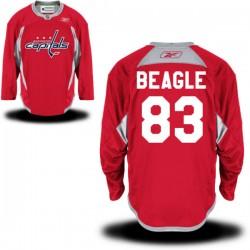 Washington Capitals Jay Beagle Official Red Reebok Authentic Adult Alternate NHL Hockey Jersey
