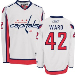 Washington Capitals Joel Ward Official White Reebok Authentic Adult Away NHL Hockey Jersey