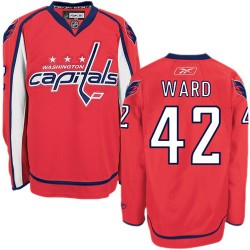 Washington Capitals Joel Ward Official Red Reebok Premier Adult Home NHL Hockey Jersey