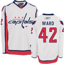 Washington Capitals Joel Ward Official White Reebok Premier Adult Away NHL Hockey Jersey
