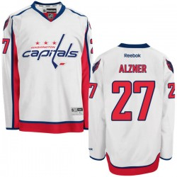 Washington Capitals Karl Alzner Official White Reebok Premier Adult Away NHL Hockey Jersey