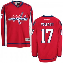 Washington Capitals Aaron Volpatti Official Red Reebok Authentic Adult Home NHL Hockey Jersey