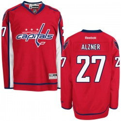 Washington Capitals Karl Alzner Official Red Reebok Authentic Adult Home NHL Hockey Jersey