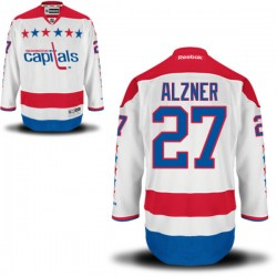 Washington Capitals Karl Alzner Official White Reebok Authentic Adult Alternate NHL Hockey Jersey