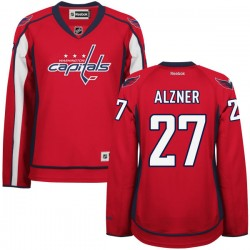 Washington Capitals Karl Alzner Official Red Reebok Authentic Women's Home NHL Hockey Jersey