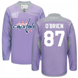 Washington Capitals Liam O'brien Official Purple Reebok Premier Adult 2016 Hockey Fights Cancer Practice Jersey