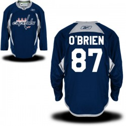 Washington Capitals Liam O'brien Official Navy Blue Reebok Premier Adult Practice Team NHL Hockey Jersey