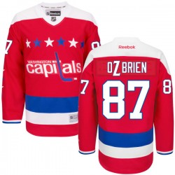 Washington Capitals Liam O'brien Official Red Reebok Authentic Adult Alternate NHL Hockey Jersey