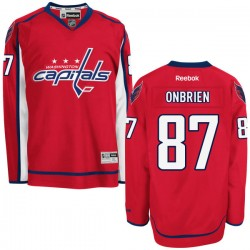 Washington Capitals Liam O'brien Official Red Reebok Authentic Adult Home NHL Hockey Jersey