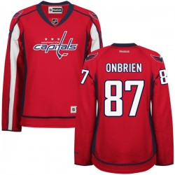 Washington Capitals Liam O'brien Official Red Reebok Authentic Women's Home NHL Hockey Jersey