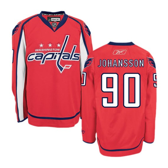 Washington Capitals Marcus Johansson Official Red Reebok Premier Adult Home NHL Hockey Jersey