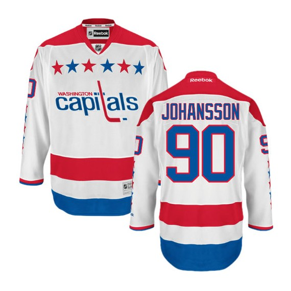 Washington Capitals Marcus Johansson Official White Reebok Premier Adult Third NHL Hockey Jersey