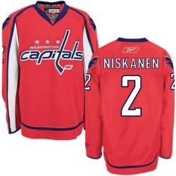 Washington Capitals Matt Niskanen Official Red Reebok Authentic Adult Home NHL Hockey Jersey