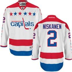 Washington Capitals Matt Niskanen Official White Reebok Authentic Adult Third NHL Hockey Jersey