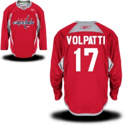 Washington Capitals Aaron Volpatti Official Red Reebok Authentic Adult Alternate NHL Hockey Jersey