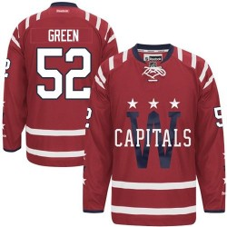 Washington Capitals Mike Green Official Green Reebok Authentic Adult Red 2015 Winter Classic NHL Hockey Jersey