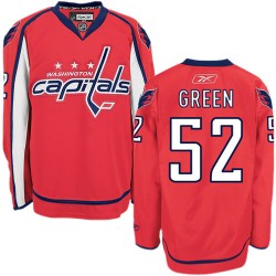 Washington Capitals Mike Green Official Green Reebok Authentic Adult Red Home NHL Hockey Jersey