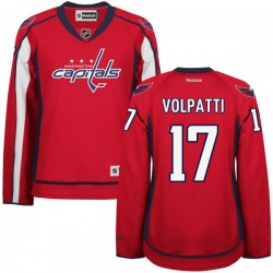 Washington Capitals Aaron Volpatti Official Red Reebok Authentic Women's Home NHL Hockey Jersey