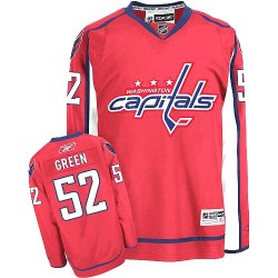 Washington Capitals Mike Green Official Green Reebok Authentic Women's Red Home NHL Hockey Jersey
