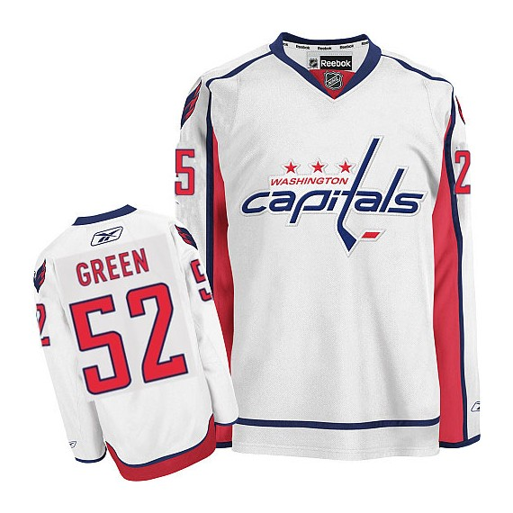 Washington Capitals Mike Green Official White Reebok Authentic Women's Away NHL Hockey Jersey