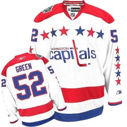 Washington Capitals Mike Green Official White Reebok Authentic Women's Third NHL Hockey Jersey