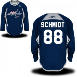 Washington Capitals Nate Schmidt Official Navy Blue Reebok Premier Adult Practice Team NHL Hockey Jersey